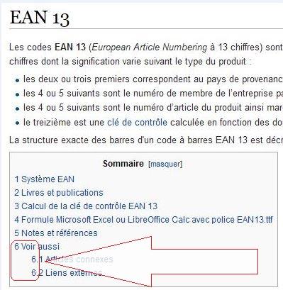 Code barres ean 13 666