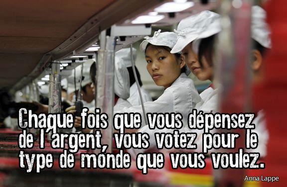 Depense argent vote pr monde anna lappe