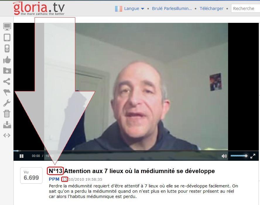 Gloriatv video 13 exorcisme 13 coms