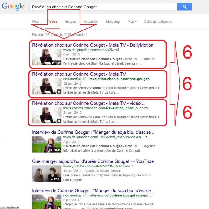 Google revelations sur corinne gouget