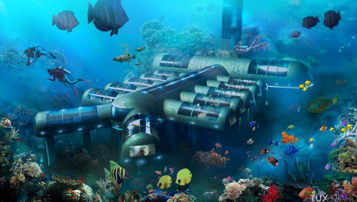 Hotel ou ville sous marine