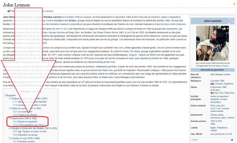 John lennon wiki 13 popularite
