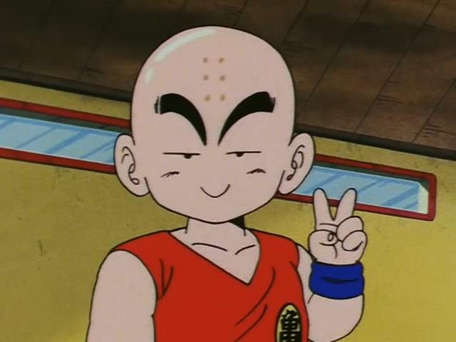 Krillin 6 point chauve
