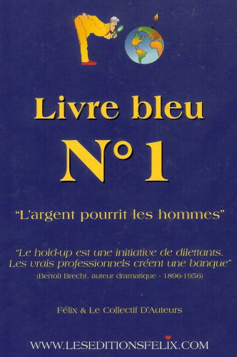 Livre bleu n 1 couverture