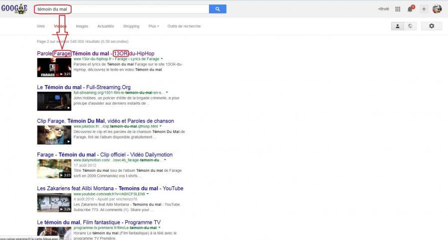 Temoin du mal farage 13 google